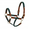 HK Americana Leather Padded Web Halter