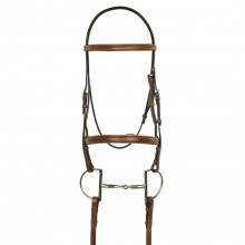 HK Americana Square Fancy Raised Padded Bridle with Square Fancy Raised Lace Reins